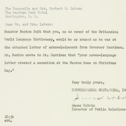 Letter: 1956 January 18