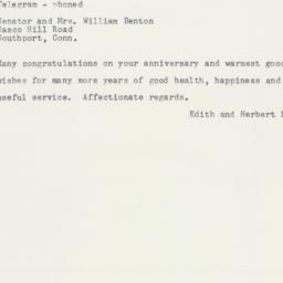 Telegram: 1958 June 12