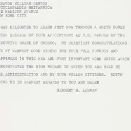 Telegram: 1963 March 16