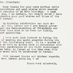 Letter: 1953 April 3