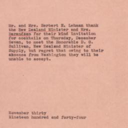 Letter : 1944 November 30
