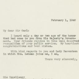Letter : 1946 February 1