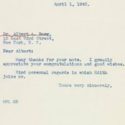Letter : 1942 April 1