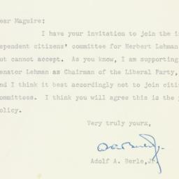 Letter : 1950 October 18