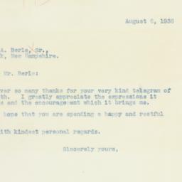 Letter: 1936 August 6
