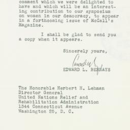 Letter : 1946 March 6