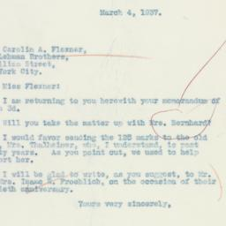Letter : 1937 March 4