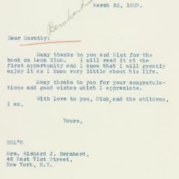 Letter : 1937 March 22