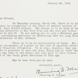 Letter: 1948 January 22