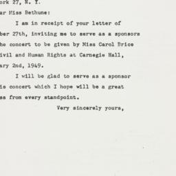 Letter: 1948 December 31