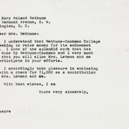 Letter: 1949 November 30