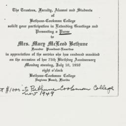 Invitation: 1950 July 10