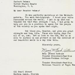 Letter: 1950 December 28