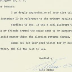 Letter : 1956 September 20