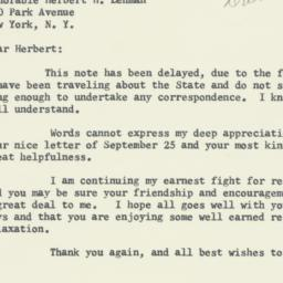 Letter : 1956 October 19