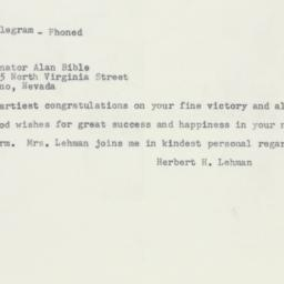 Letter : 1956 November 8