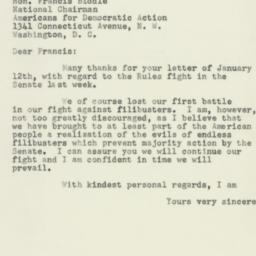 Letter : 1953 January 14