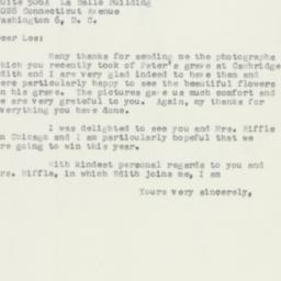 Letter : 1956 August 27