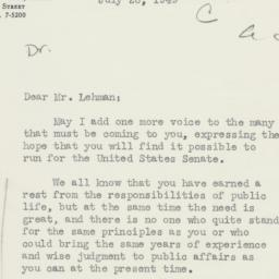 Letter : 1949 July 26