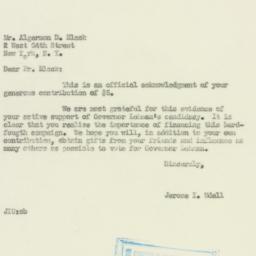 Letter: 1949 October 26