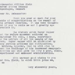 Letter : 1961 September 19