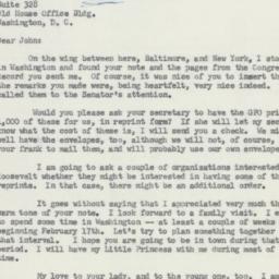 Letter : 1958 February 9