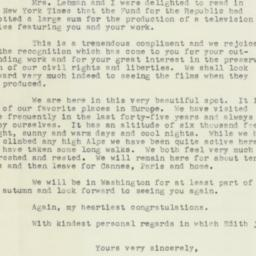 Letter: 1955 August 26
