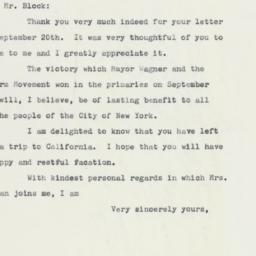 Letter : 1961 September 27