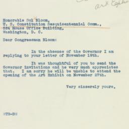 Letter: 1937 November 20