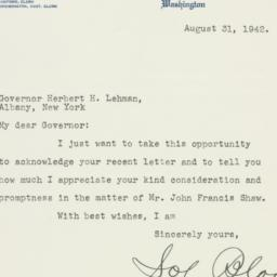 Letter: 1942 August 31
