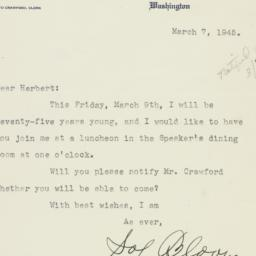 Letter : 1945 March 7