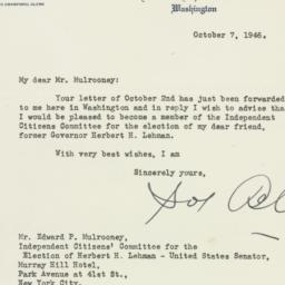 Letter: 1946 October 7