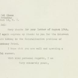 Letter : 1948 August 22