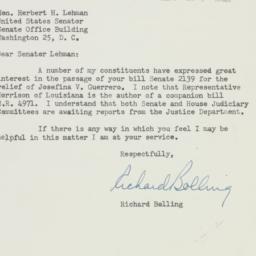 Letter : 1952 February 2