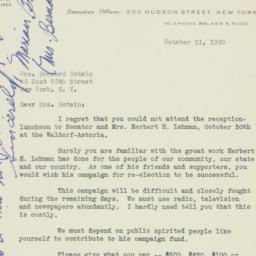 Letter : 1950 October 31