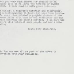 Letter : 1962 November 26