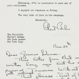 Letter : 1946 November 28