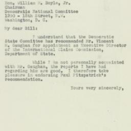 Letter : 1950 August 1