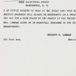 Telegram : 1941 October 6