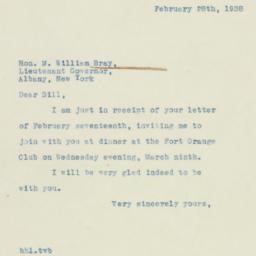 Letter : 1938 February 28