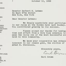 Letter: 1952 October 10