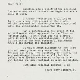 Letter : 1952 November 6