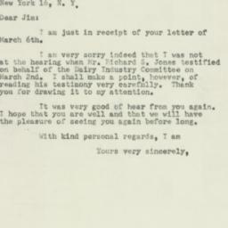 Letter : 1953 March 10