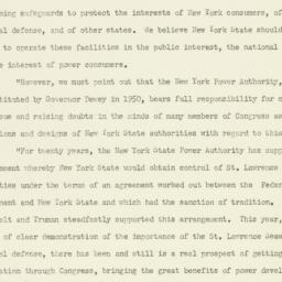 Press release : 1951 October 3