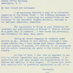 Letter : 1954 November 29