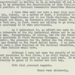 Letter: 1954 December 13