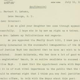 Letter : 1933 July 11