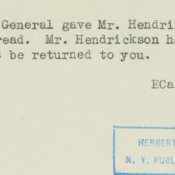 Memorandum: 1945 February 10