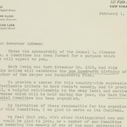 Letter : 1935 February 1