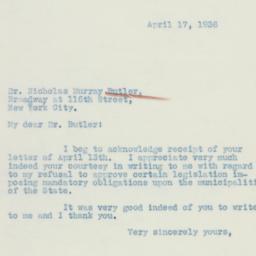 Letter: 1936 April 17